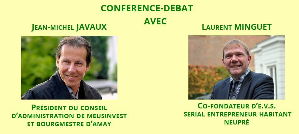 Conférence – débat avec Jean-Michel Javaux et Laurent Minguet